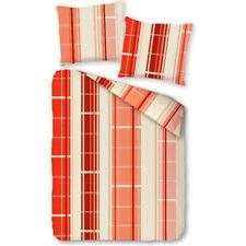 Linge de lit à carreaux 135x200 Rouge Jaune Ensemble housse couette en