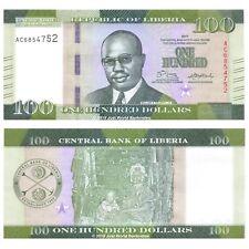 """Liberia 100 dólares 2017 prefijo """"AC"""" P-NUEVOS BILLETES UNC"""