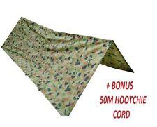 AUSCAM HOOCHIE w/ BONUS hoochie cord - MILITARY - ARMY CADETS - SCOUTS - HUTCHIE