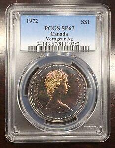 1972 Canada Voyageur Ag Silver Dollar PCGS SP-67, Buy 3 Get $5 Off!! R6514