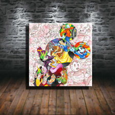 Modern Art Print Oil Painting on Canvas XM46,Disney Mickey Mouse 12x12inch