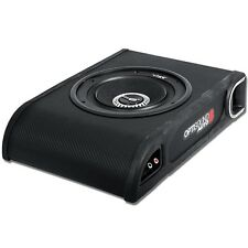 Bassbox mit 20cm Subwoofer extra flach und klein für Untersitz Montage im Cabrio