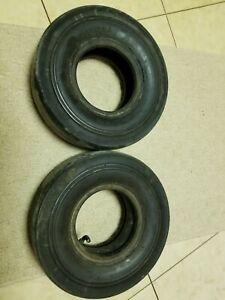"""Vintage 1960 Racing Go Kart Cheng Shin Slick Tires 4.10/3.50-5 5"""" Used"""