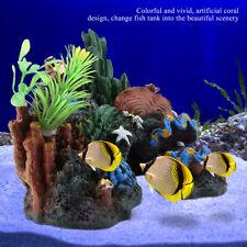 Colorful Resin Coral Plant Reef Mountain Fish Tank Cave Aquarium Ornament Decor