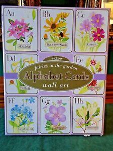 "EEBOO FAIRIES IN THE GARDEN ALPHABET CARDS WALL ART, 26 CARDS, 8"" X 10"", BEAUTY"