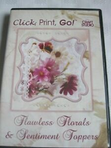 """**Craft Room Clear Out**  Floral Toppers & Sentiments """"Click, Print & Go"""" CD"""