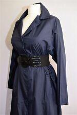 VINTAGE trench coat imperméable mac Nylon Landgirl maîtresse 1960 S ne 1940 S WW2 14 16