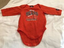 NFL Chicago Bears Newborn 3/6 Months Orange One Piece / Onsie / Creeper