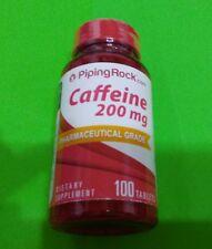 Cafeina 200 mg 100 tabletas Piping Rock