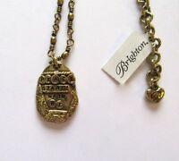 Brighton Love Quotes Peace Necklace- gold color - Peace Starts With Me