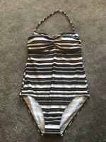M&S Collection Black White Swimsuit swimming costume size 14 Bnwt Free P&pbandau