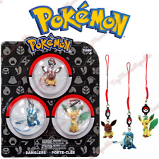 Tomy Pokemon Danglers 3 pack - Evee, Leafeon, Glaceon Figures Keychain Brand New