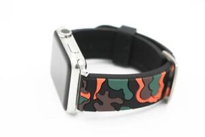 URVOI Camo band for apple watch series 1 2 3 strap for iWatch Soft Silicone