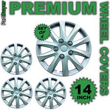 """Gamma 14 """"rueda trims/hub Tapas Cubre Plata Universal Juego De 4"""