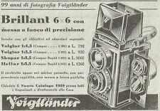 Y3132 Voigtlander - Brillant 6 x 6 - Pubblicità del 1939 - Old advertising