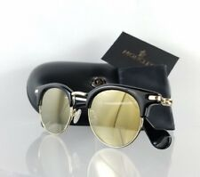 Brand New Authentic Moncler Sunglasses ML 0035 01A Shiny Black Gold 47mm