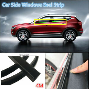 4M Car Door Window Trim Edge Moulding Rubber Noise Seal Strip Weatherstrip Black
