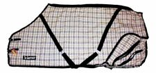 """""""The Racetracker"""" Black and Tan Plaid Cotton Blend Stable Sheet 78""""  Horse Tack"""