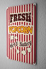 Tin Sign Kitchen Popcorn cinema