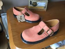 Vintage Dr Martens peach mary jane buckle shoes UK 4 EU 37 polley skin England
