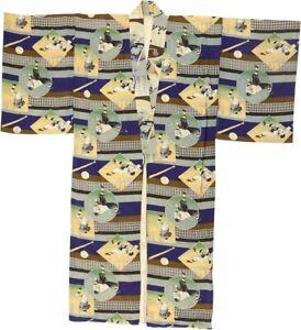 """RARE 1930s Baseball """"Stadium"""" Kimono - The Nippon Collection"""