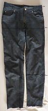 Vintage - pantalon cuir mat noir_ Polo Basic - coupe 501 - t. 40 - BE