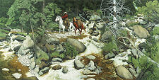 "Bev Doolittle ""FOREST HAS EYES""-WSS Print-Camoflauge-Horse-Trapper-Hidden Images"