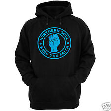 "NORTHERN SOUL HOODIE ALL SIZES + COLS (Gildan wigan rave allnighter music 7"")"