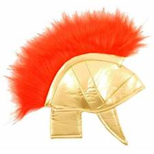Boys Kids Roman Gladiator Helmet Spartucus Spartan Fancy Dress Hat