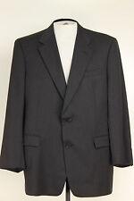 Burberry Mens Super 100 Charcoal 43R 100 Wool Blazer Jacket Sport Coat