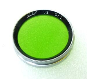 32mm Slip-On / Push- On Linhof GR-1 Filter - GREEN Contrast - PERFECT