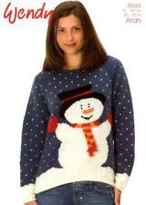 Wendy Knitting Pattern 5593 - Snowman Sweater - Aran
