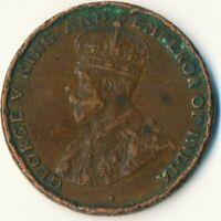 COIN / HONG KONG / 1 CENT 1924 KING GEORGE V.     #WT7494