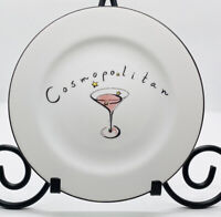 Pottery Barn Cosmopolitan Martini Cocktail Plate Made In Thailand