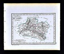 1841 Perrot France Map Departement du Loiret - Orleans Gien Moutargis Pithiviers