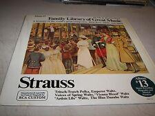 FAMILY LIBRARY OF GREAT MUSIC ALBUM 13 STRAUSS LP NM RCA Custom FW-313 1976