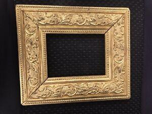 "Elaborate Gold Gilt Wood Victorian 4x6"" Picture frame Exterior measurement 8x10"