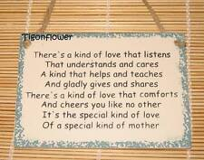 Wood Sign Words Mother Love Care Listen Comforts Cheer Special Buy 2 get 1 free