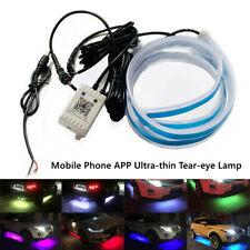 60CM Car Soft Tube LED Strip Running Light Turn Signal Lamp Phone App Control