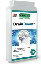 BrainBoom™ Brain Supplement Nootropics for Memory Cognition Studying 90 Capsules