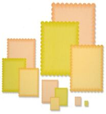 Presscut Cutting and Embossing Die Set -Scalloped Rectangles 11 Dies : PCD80