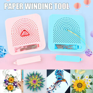 Quilling Board With Pins Storage Light Grid Guide For Paper Craft Winder