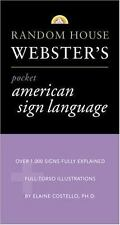 NEW - Random House Webster's Pocket American Sign Language Dictionary