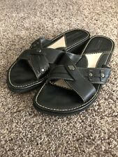 Womens Harley Davidson Sandal Black Leather Shoe US 6.5 M EU 37.5 D82430 Slides