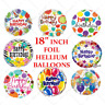 """18"""" Inch Giant Foil Balloons Helium Baloon Large Happy Birthday Party Occasion"""