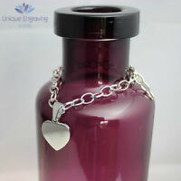 Personalised Photo / Text Engraved Heart Charm Bracelet - Great Christmas Gift!