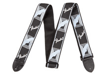 "Fender 2"" Monogrammed Strap - Black / Light Grey / Blue"