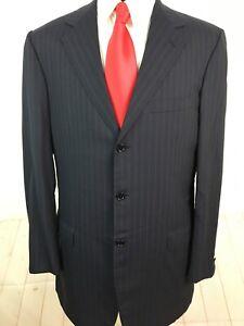 Brioni Men's Striped Blue Wool Blazer 42L $4,195