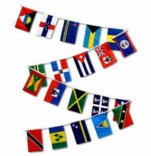 CARRIBEAN STRING OF FLAGS 30 FEET PENNANTS ISLANDS NEW