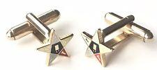 Cufflinks (N251) Gift Boxed Masonic Eastern Star Crested